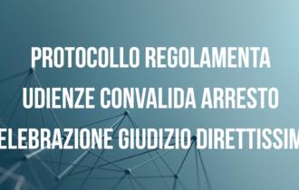 Covid 19. Protocollo per i procedimenti per direttissima